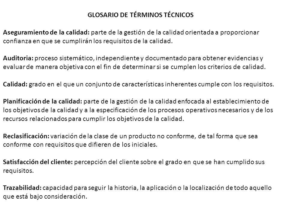 GLOSARIO DE TÉRMINOS TÉCNICOS