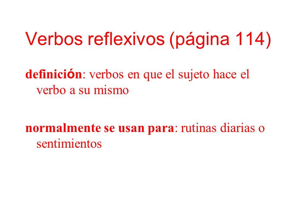 Verbos reflexivos (página 114)