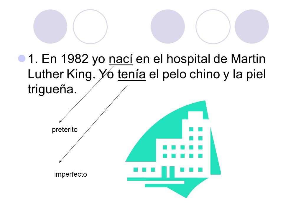 1. En 1982 yo nací en el hospital de Martin Luther King
