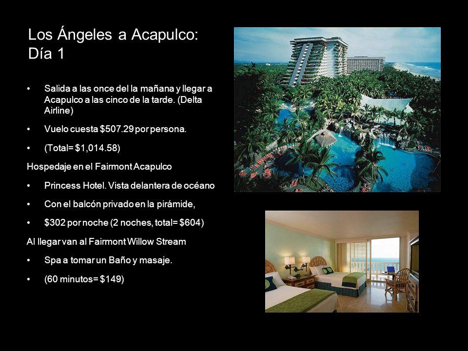 Los Ángeles a Acapulco: Día 1