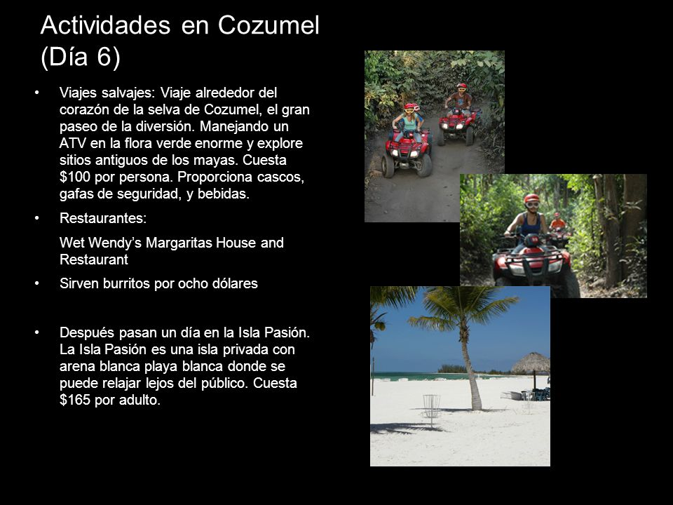 Actividades en Cozumel (Día 6)