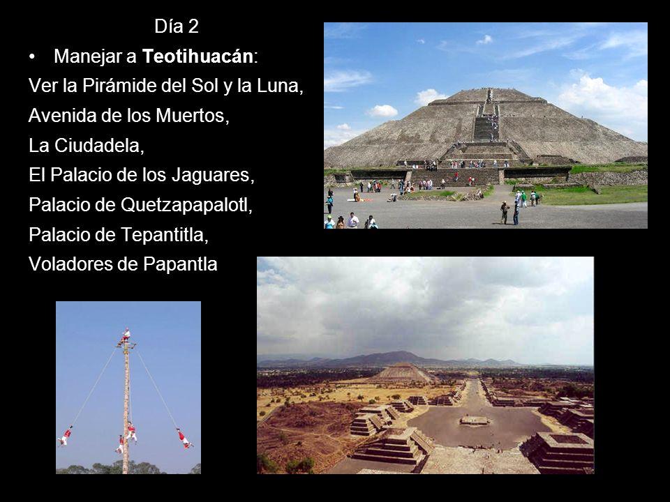 Día 2Manejar a Teotihuacán: Ver la Pirámide del Sol y la Luna, Avenida de los Muertos, La Ciudadela,