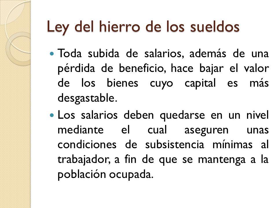 Ley del hierro de los sueldos
