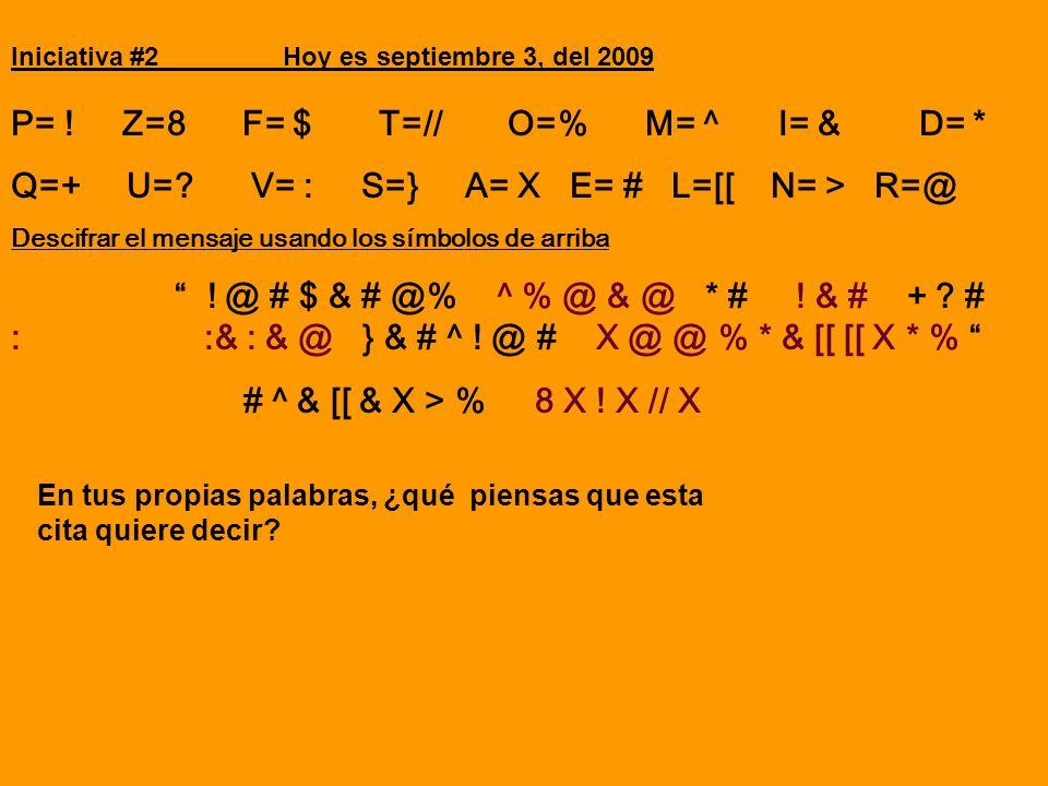 P= ! Z=8 F= $ T=// O=% M= ^ I= & D= *