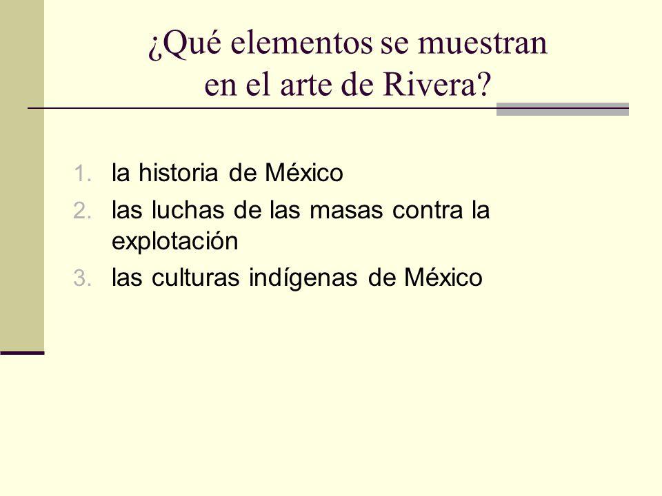 ¿Qué elementos se muestran en el arte de Rivera