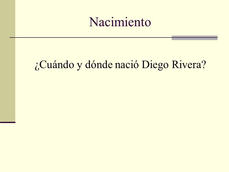 ¿Cuándo y dónde nació Diego Rivera