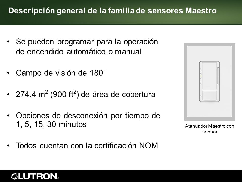 Atenuador Maestro con sensor