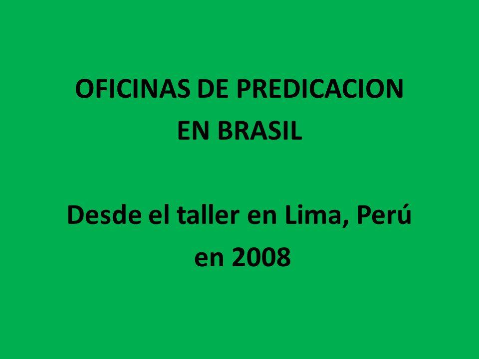OFICINAS DE PREDICACION Desde el taller en Lima, Perú