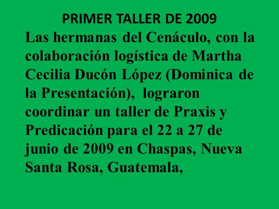 PRIMER TALLER DE 2009