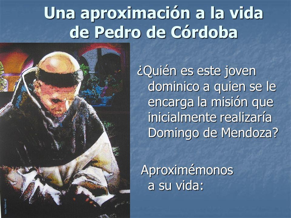 Una aproximación a la vida de Pedro de Córdoba