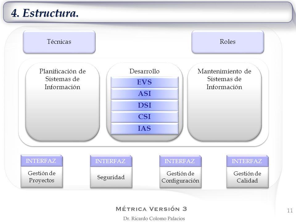 4. Estructura. EVS ASI DSI CSI IAS Técnicas Roles