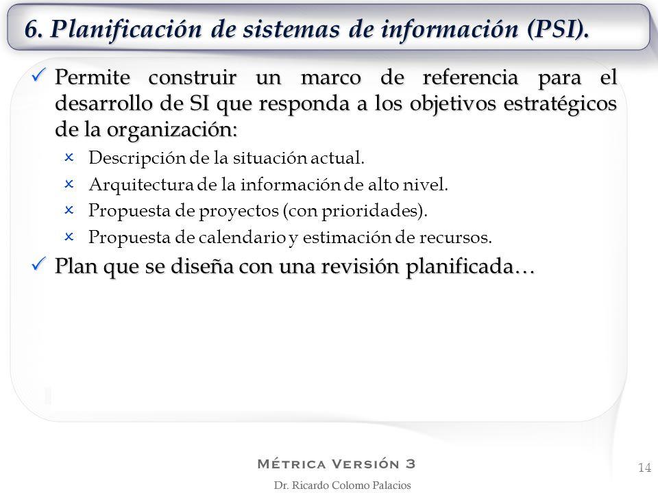 6. Planificación de sistemas de información (PSI).