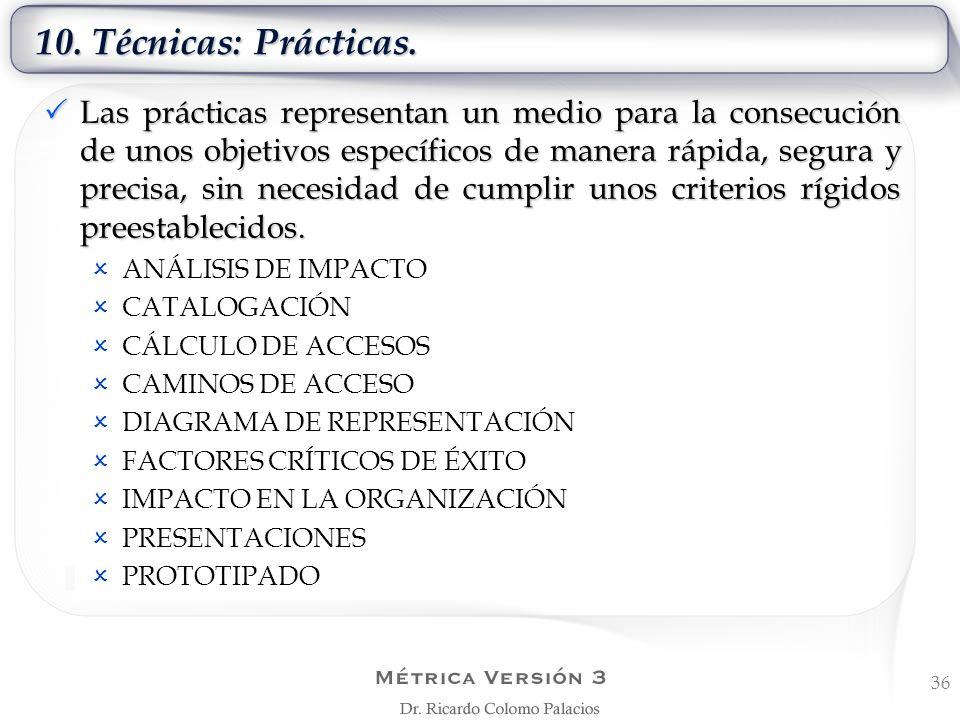 10. Técnicas: Prácticas.