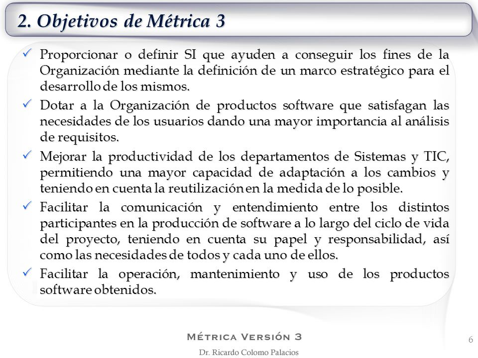 2. Objetivos de Métrica 3