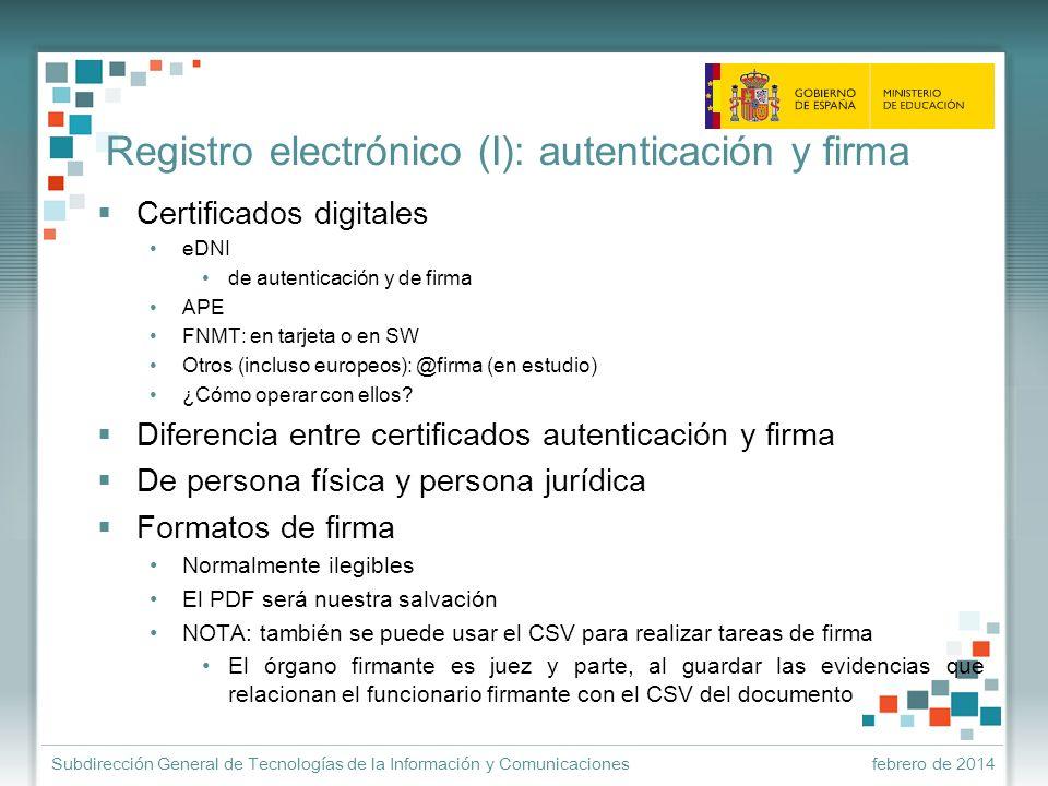 Registro electrónico (I): autenticación y firma