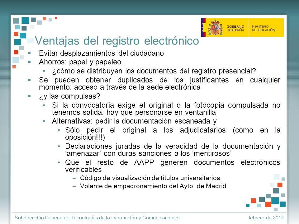 Ventajas del registro electrónico