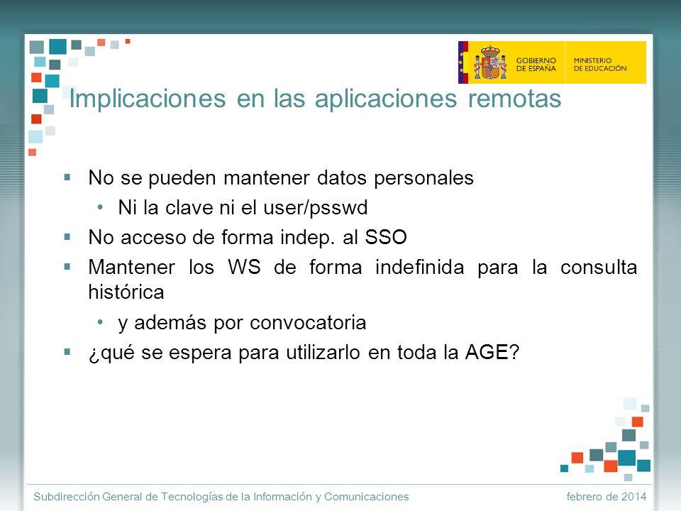 Implicaciones en las aplicaciones remotas
