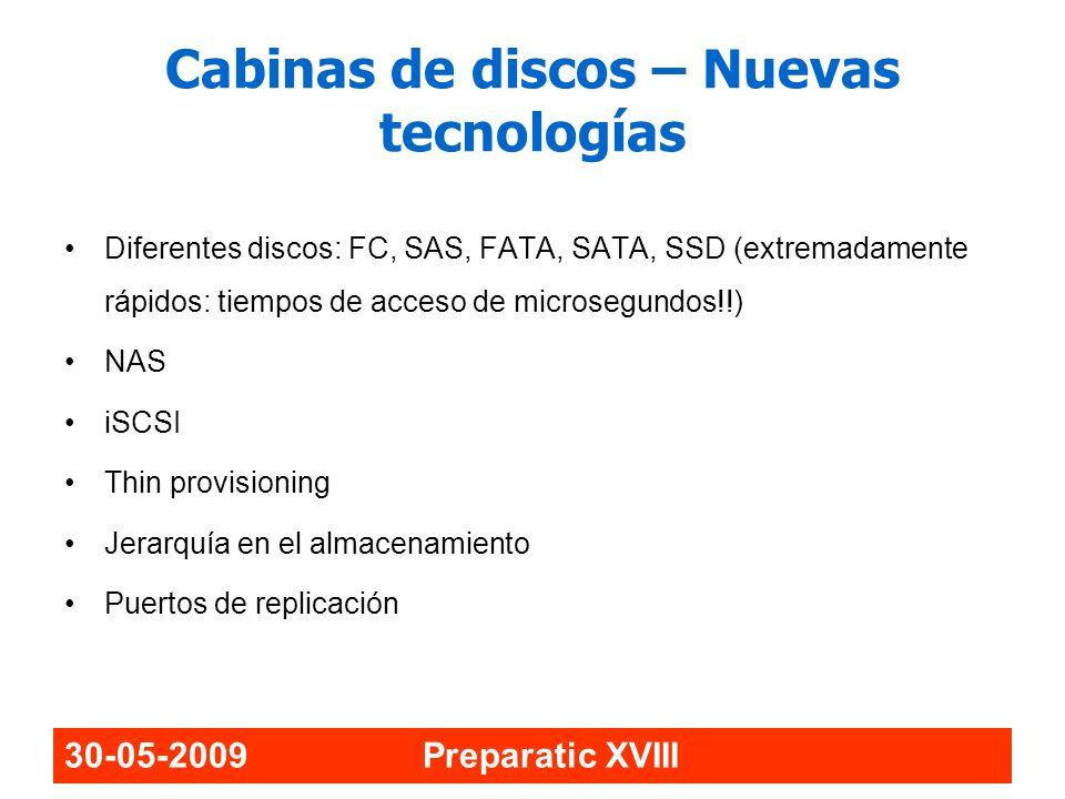 Cabinas de discos – Nuevas tecnologías