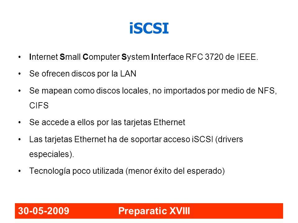 iSCSI 30-05-2009 Preparatic XVIII