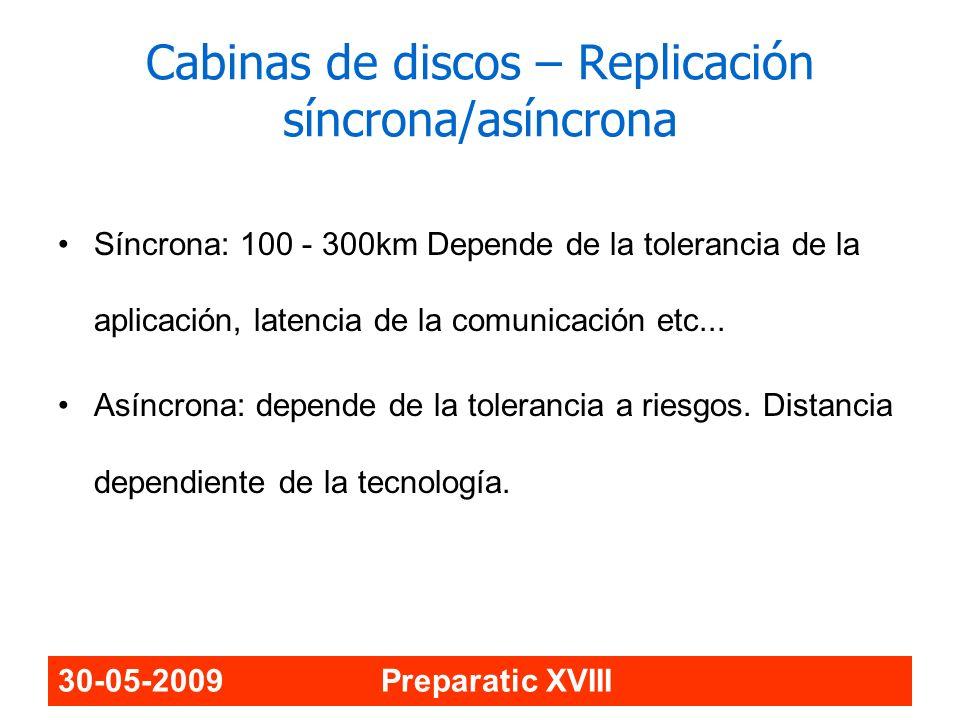 Cabinas de discos – Replicación síncrona/asíncrona