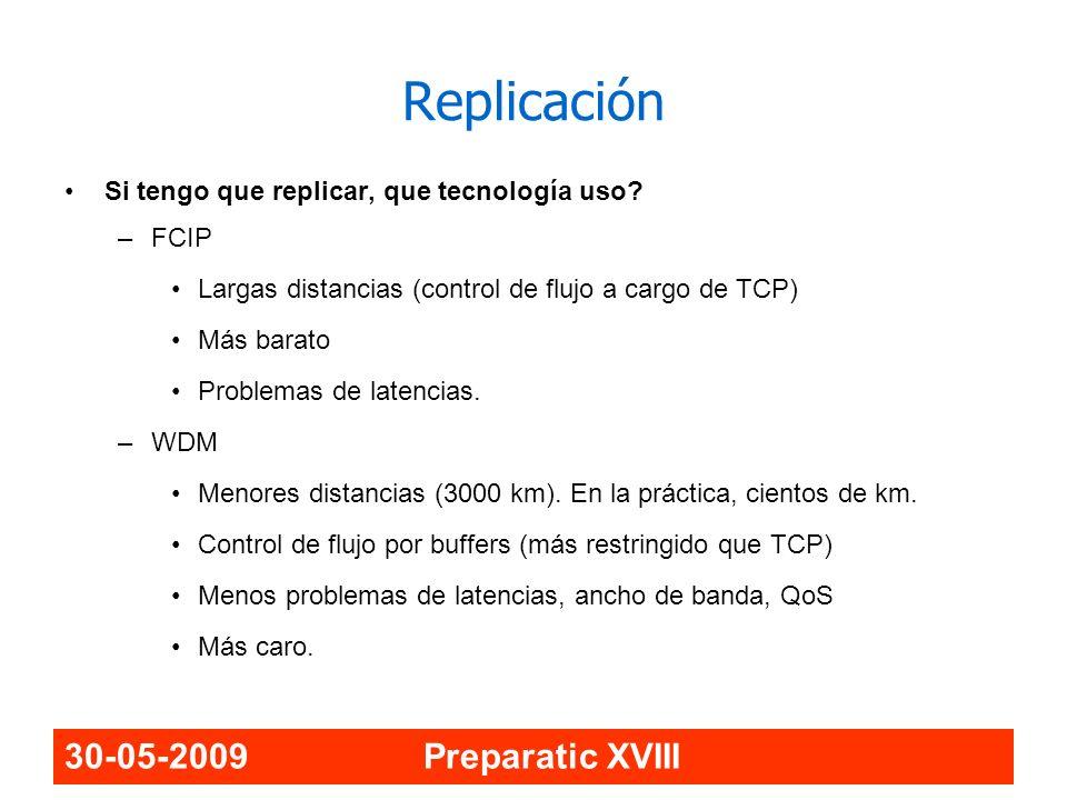 Replicación 30-05-2009 Preparatic XVIII
