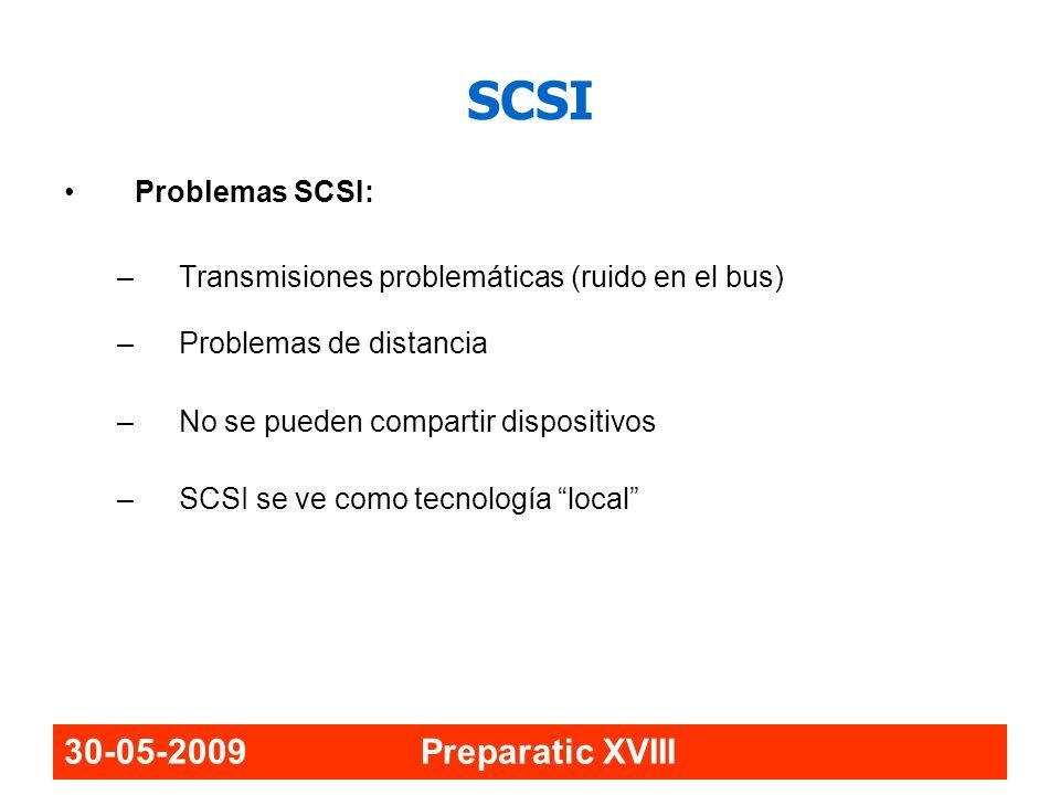 SCSI 30-05-2009 Preparatic XVIII Problemas SCSI: