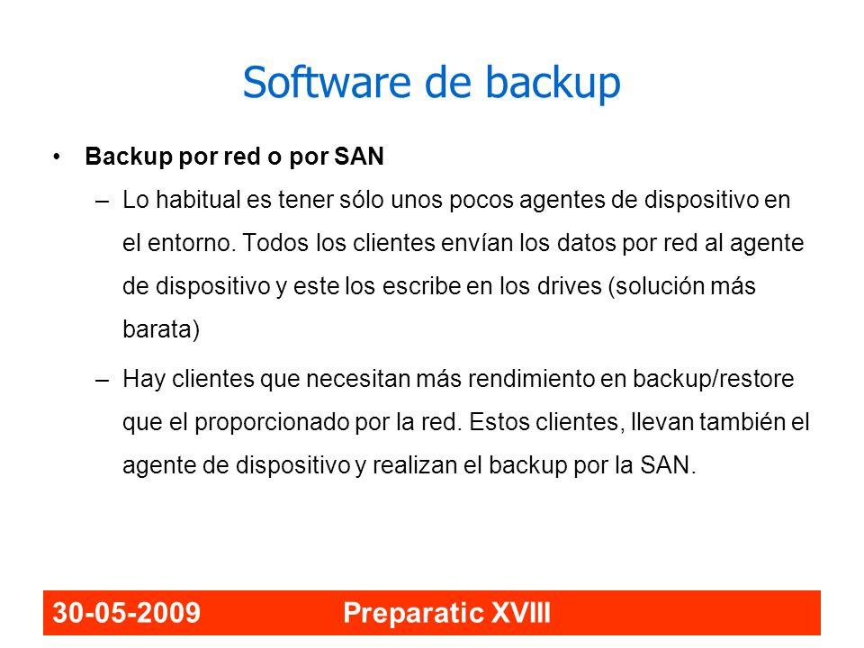 Software de backup 30-05-2009 Preparatic XVIII
