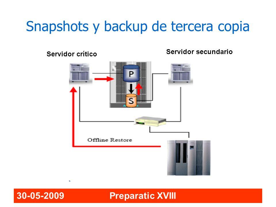 Snapshots y backup de tercera copia