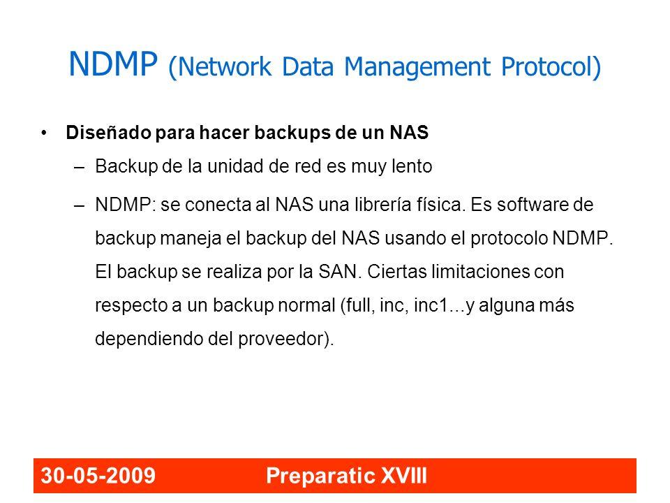 NDMP (Network Data Management Protocol)