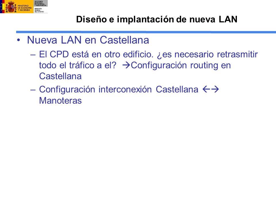 Diseño e implantación de nueva LAN