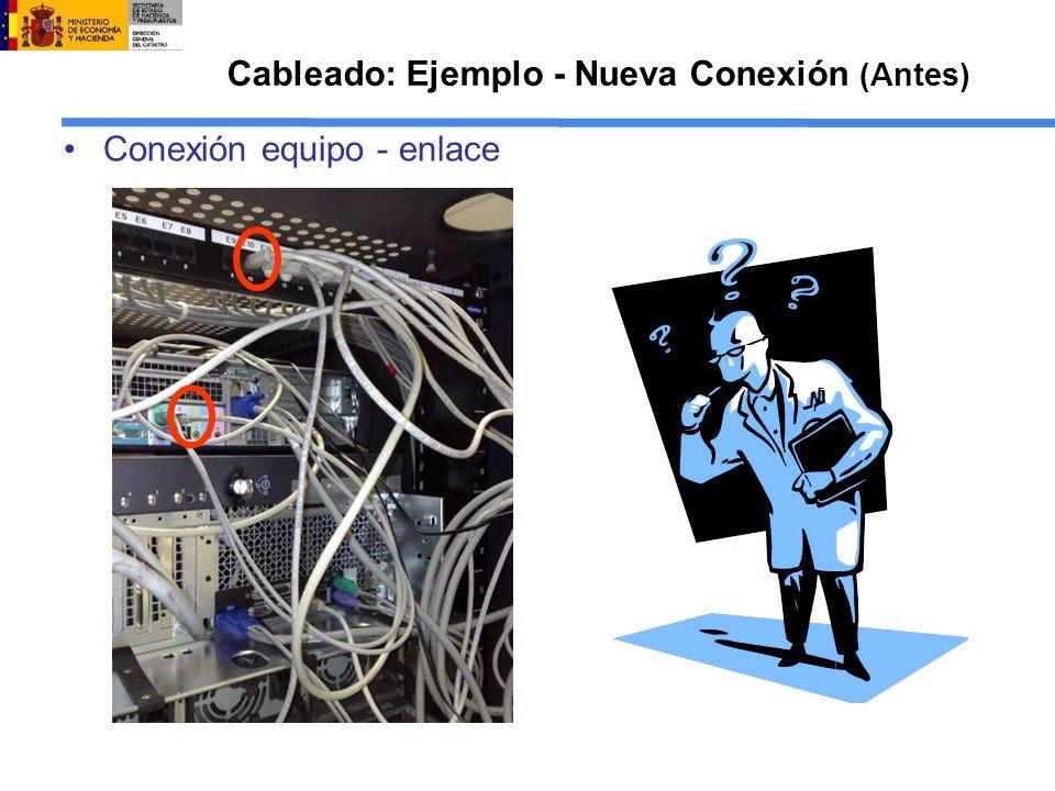 Cableado: Ejemplo - Nueva Conexión (Antes)