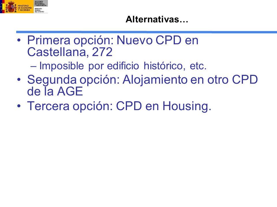 Primera opción: Nuevo CPD en Castellana, 272