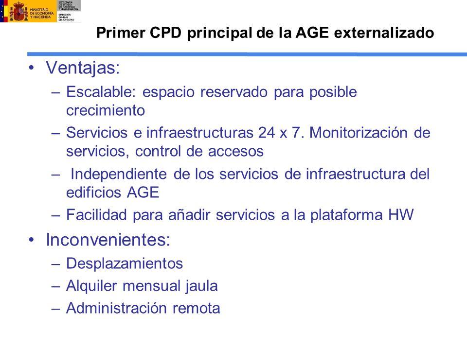 Primer CPD principal de la AGE externalizado