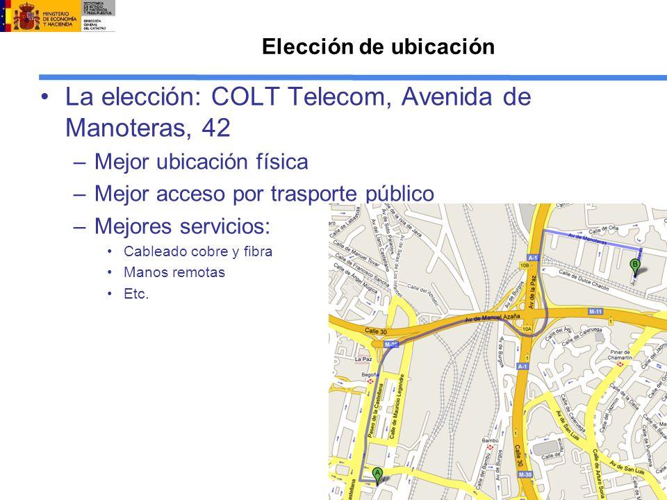 La elección: COLT Telecom, Avenida de Manoteras, 42