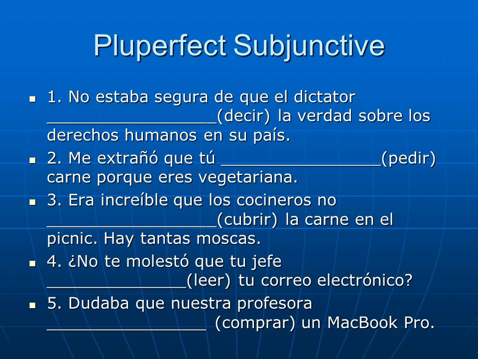 Pluperfect Subjunctive