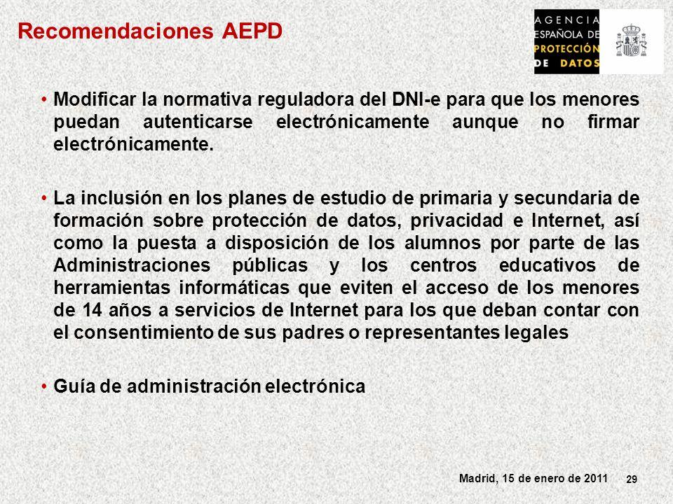 Recomendaciones AEPD
