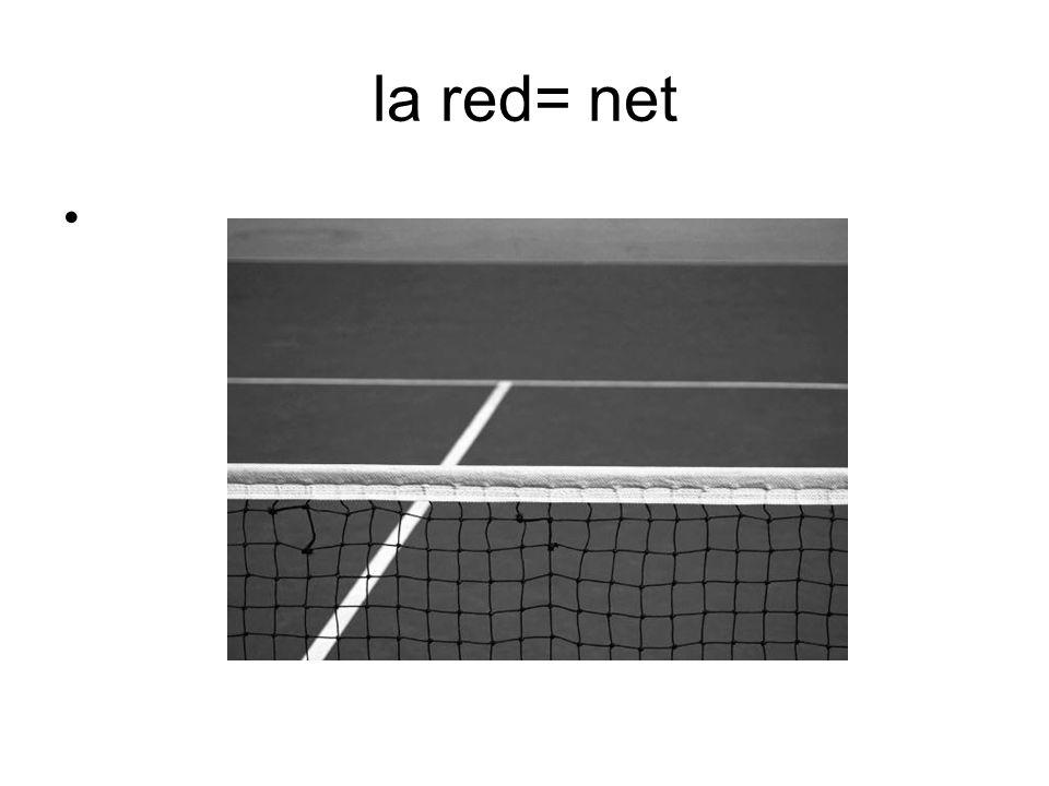 la red= net