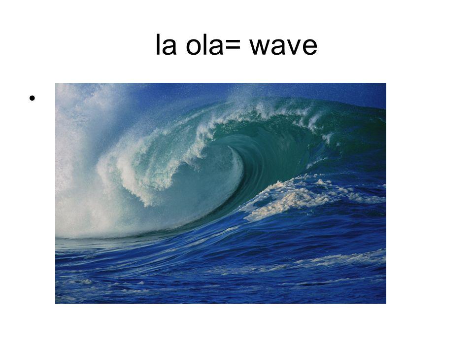 la ola= wave