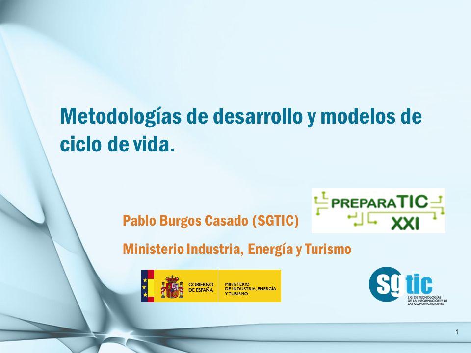 Metodologías de desarrollo y modelos de ciclo de vida.