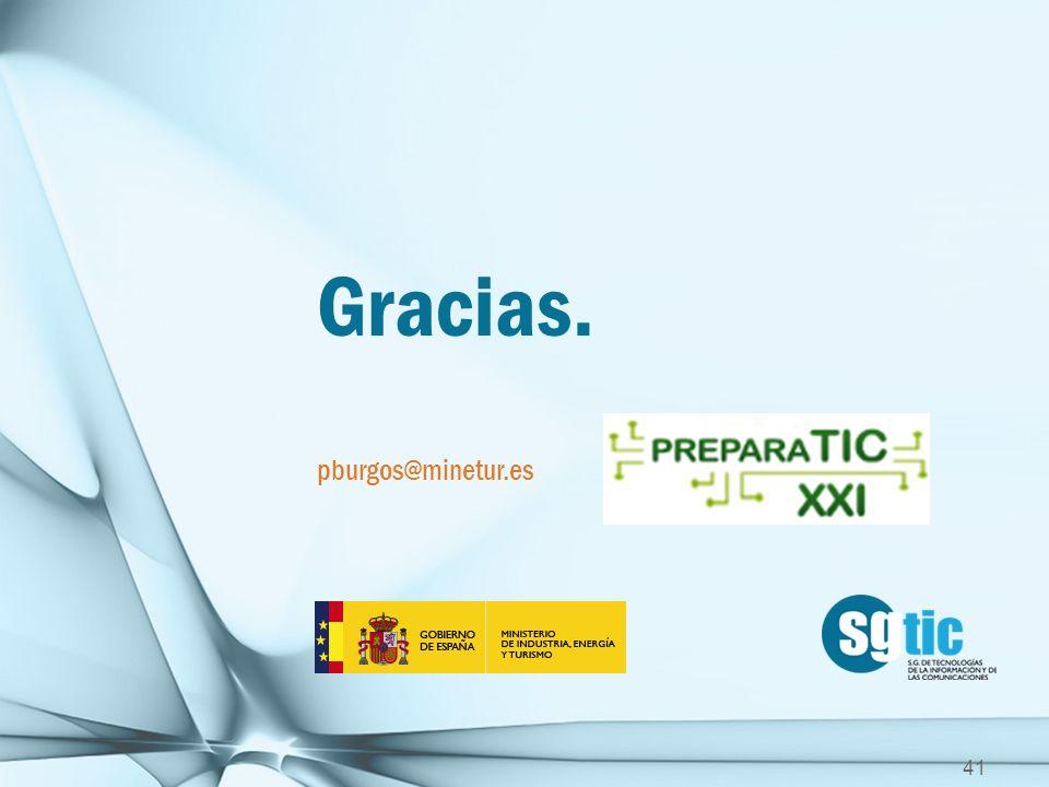 Gracias. pburgos@minetur.es
