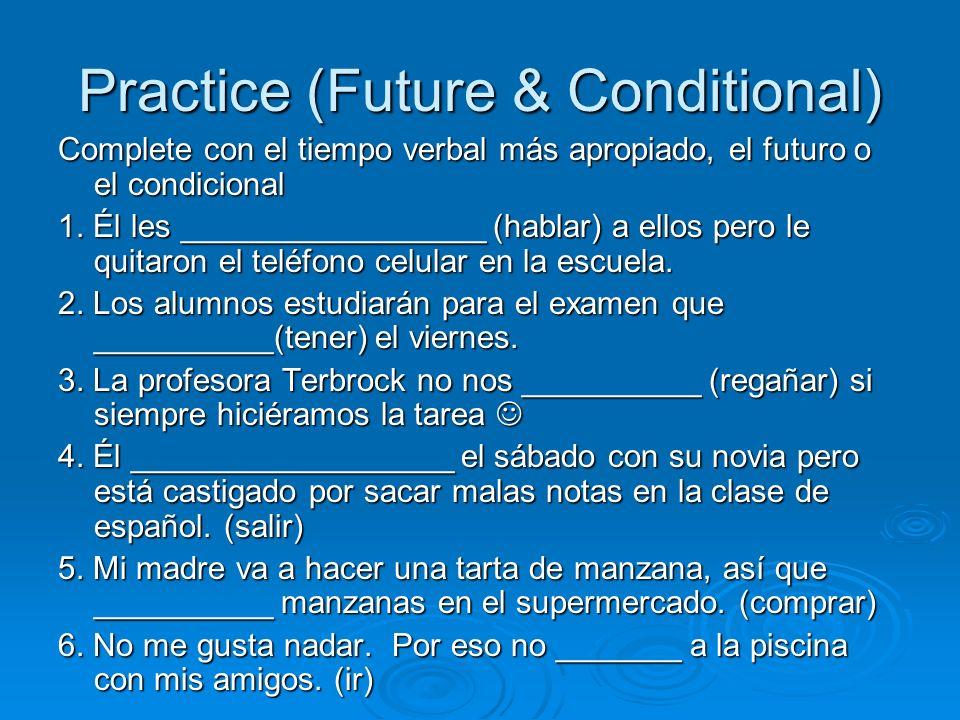 Practice (Future & Conditional)