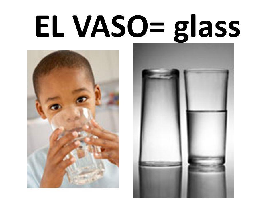 EL VASO= glass