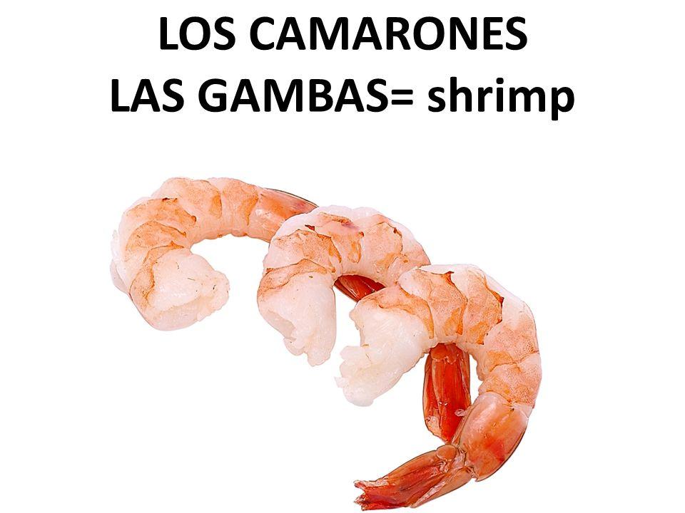 LOS CAMARONES LAS GAMBAS= shrimp
