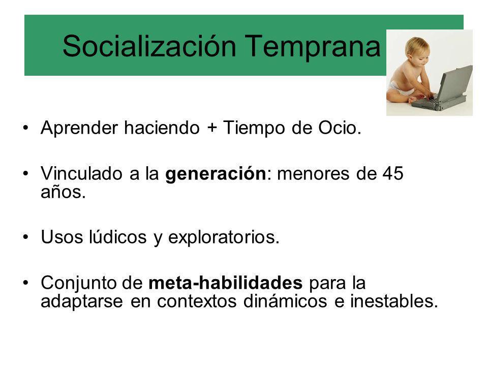Socialización Temprana (a)