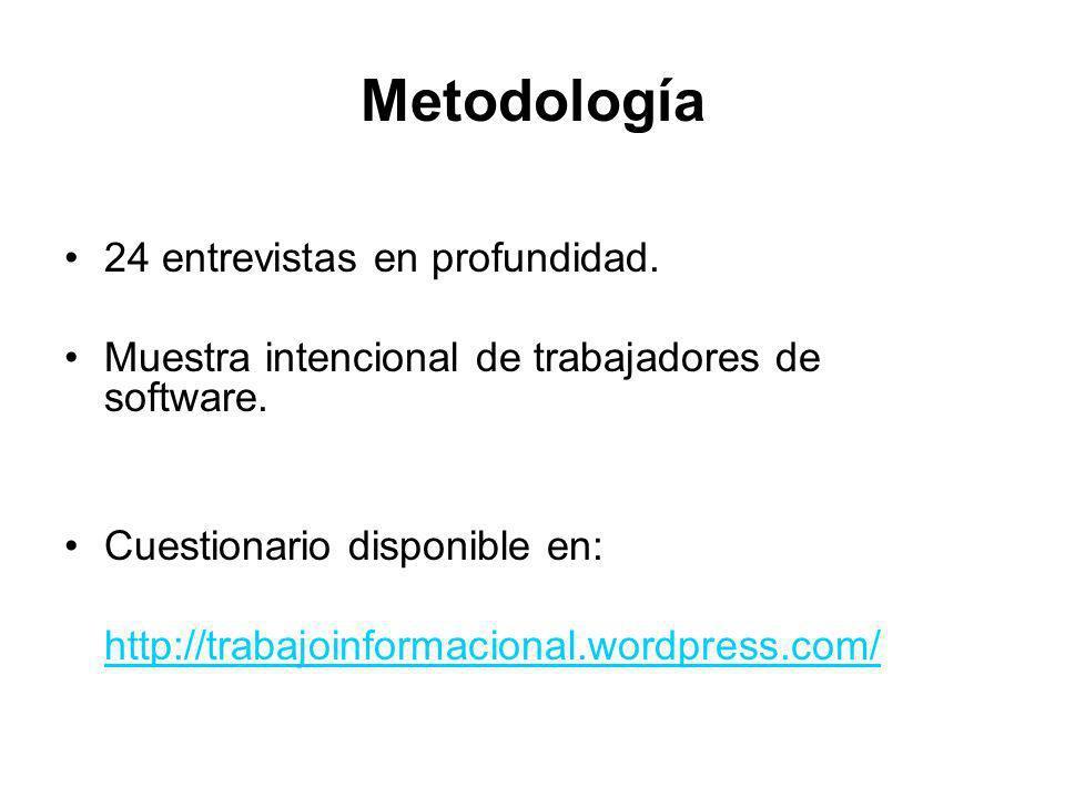 Metodología 24 entrevistas en profundidad.