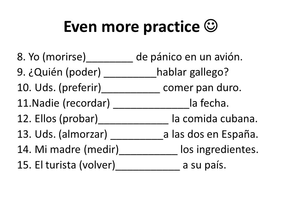 Even more practice 