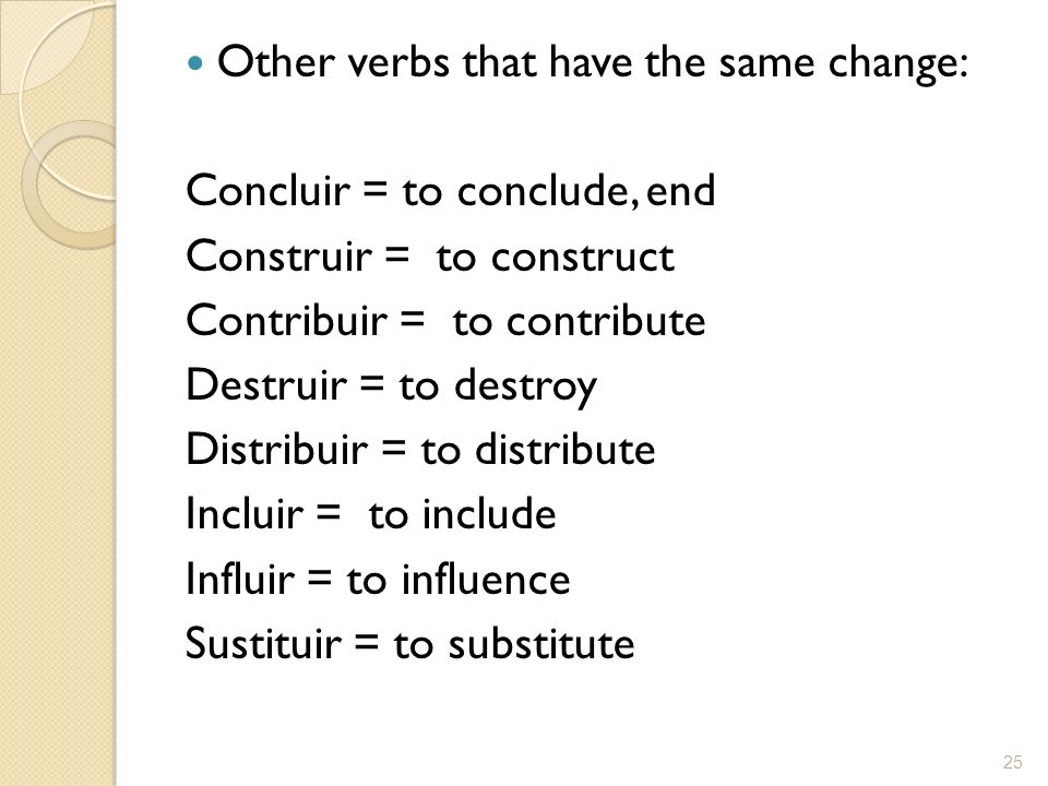Other verbs that have the same change: