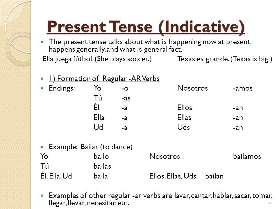 Present Tense (Indicative)