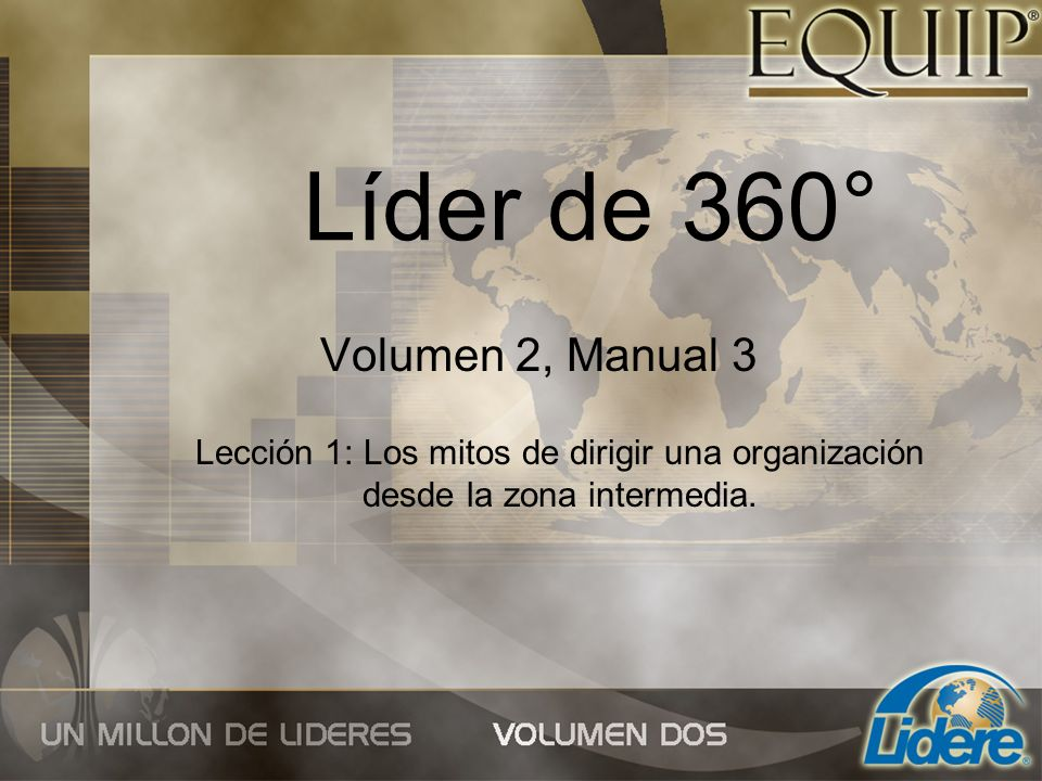 Líder de 360° Volumen 2, Manual 3