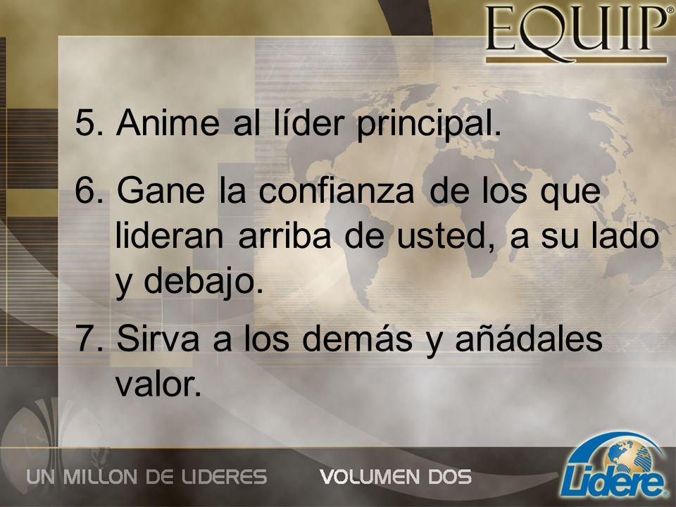 5. Anime al líder principal.